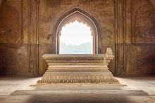 Marble Cenotaph In Safdarjung's Tomb In Delhi, India