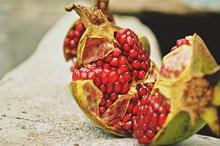 Fruta Granada Madura Recien Co...