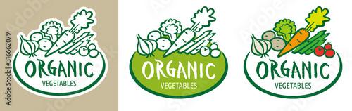 Fototapeta 新鮮な有機野菜のロゴ obraz