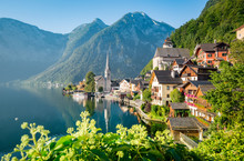Classic View Of Hallstatt In S...