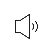 Simple Mute Line Icon.