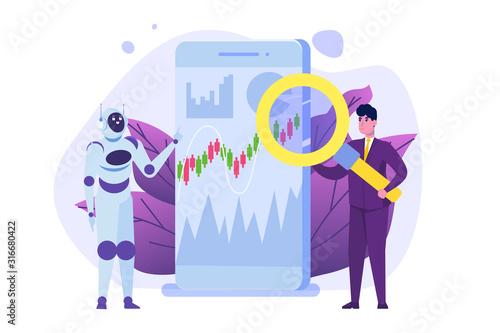 Robot investing, Robo-advisor Wallpaper Mural