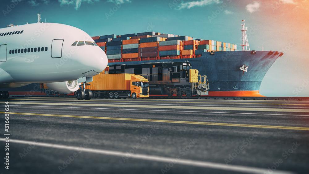 Fototapeta Transportation and logistics.