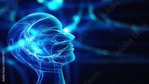 Obraz Innovation technology abstract background - fototapety do salonu