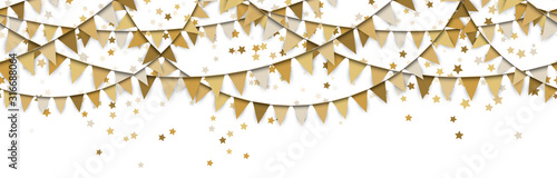 Foto seamless colored garlands and confetti background