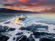Elenka Island On Lake Baikal I...