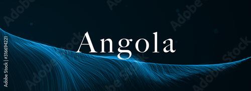 Photo web Label Sticker Angola