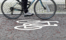 Painted Cycle Path Bicycle Sig...
