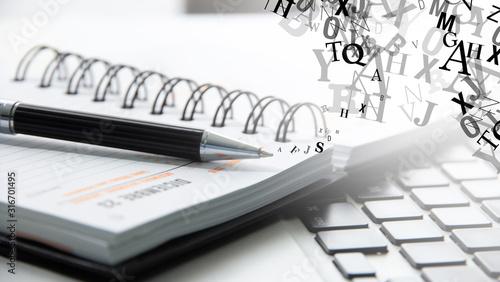 Canvastavla agenda, penna, prendere appunti