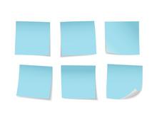 Blue Sticky Notes Set. Suitabl...