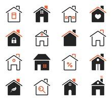 House Icons. Exterior Home Ima...