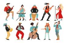 Musicians. Rock Band, Pop Musi...