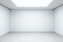 Minimalistic Room Space With Empty White Wall