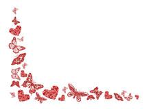 Red Glitter Butterfly, Heart S...