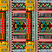 Colored Patchwork Design With ...