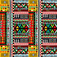 Dizajn u boji u bojama s afričkim etničkim motivima