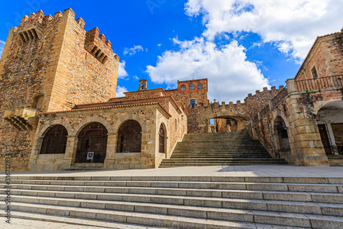 Plaza Mayor in Caceres, Spanien / Panorama
