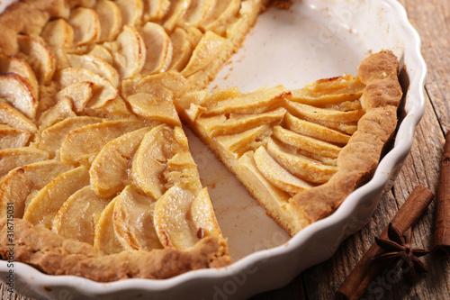apple pie- homemade gourmet apple pie Canvas Print