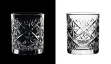 Crystal Glass With Embossed Pa...