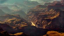 Panorama Colorado River Im Gra...