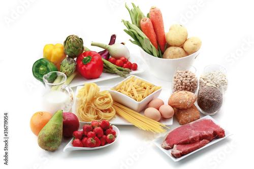 Alimentos dieta saludable Canvas Print