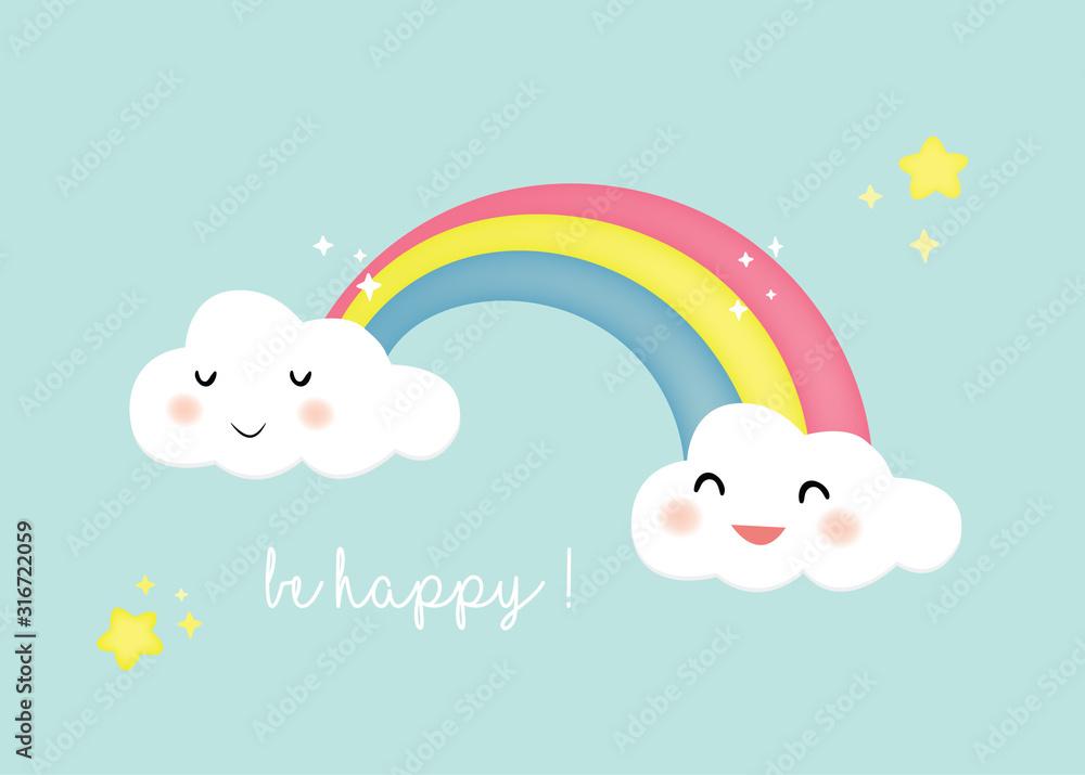 Fototapeta sfondo carino arcobaleno