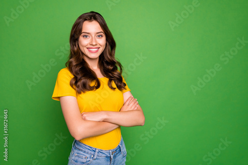 Fotografía Portrait of her she nice-looking attractive lovely winsome cheerful cheery conte