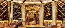 Wine Cellar With Bottles On Wo...