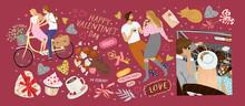 Happy Valentine's Day! Vector ...