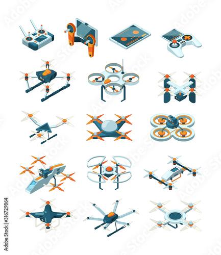 Fotomural Drones isometric