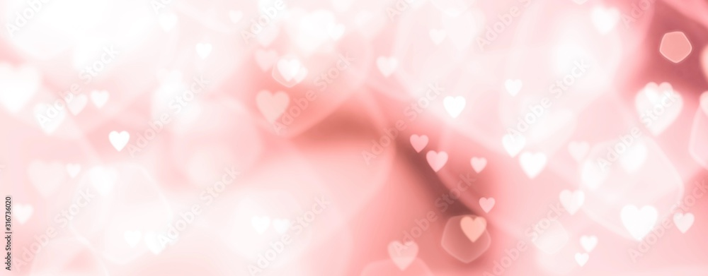 Fototapeta Abstract pastel background with hearts - concept Wedding Day, Mother's Day, Valentine's Day, Birthday - spring colors