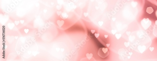 Abstract pastel background with hearts - concept Wedding Day, Mother's Day, Valentine's Day, Birthday - spring colors - 316736020