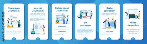 Photo Journalist mobile application banner set