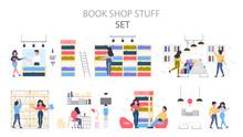 Bookstore Building Interior. P...
