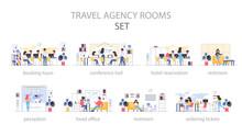 Travel Agency Room Interior. P...