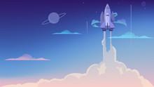 Vector Illustration Of Rocket ...