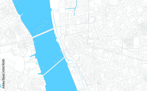 Liverpool, England bright vector map