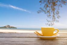 A Cup Of Hot Espresso Coffee M...
