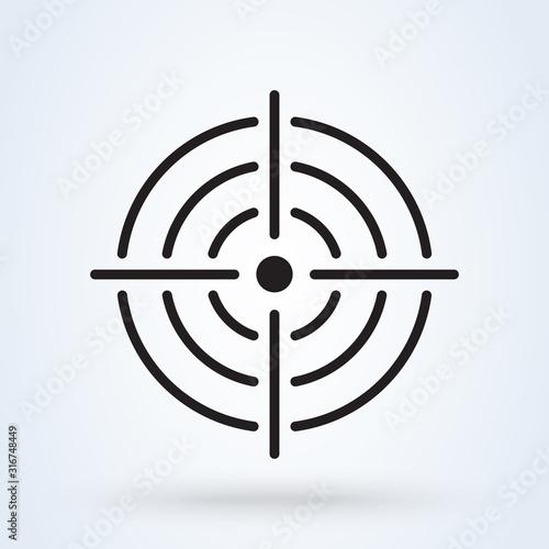 Purpose Accuracy icon. Simple modern design illustration. Canvas Print