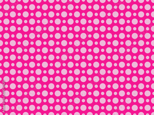 Dotted pop art seamless pattern in 1960s style Wallpaper Mural