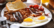 English Breakfast With Eggs, T...