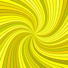 Yellow Abstract Psychedelic St...