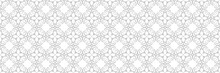 Seamless Floral Background With Gray Flowers