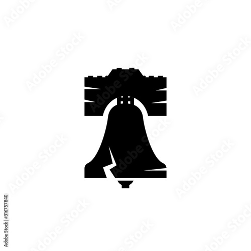 Fotografie, Tablou Liberty bell silhouette icon