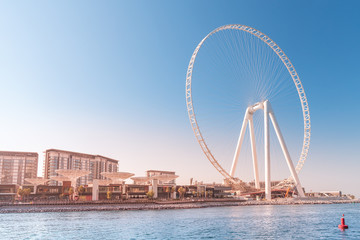 One of the most largest ferrris wheel in the world - Ain Dubai in United Arab Emirates. Travel destinations and attractions