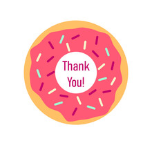 Thank You Pink Donut. Clipart ...