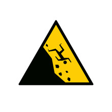 Fallling Off Cliff Road Sign. ...