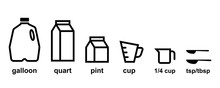 Kitchen Measurement Icon Set. ...