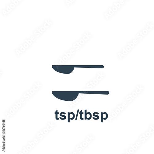 Measuring tablespoon and teaspoon icon Canvas-taulu