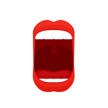 Open Mouth Icon. Clipart Image...